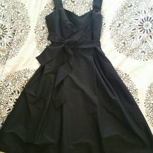 WHBM Black Dress with Sash